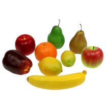 Fruits artificiels assortiment en filet