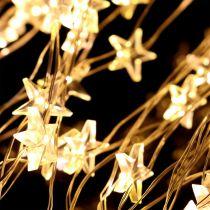 Faisceau lumineux LED étoile pour extérieur 320 1m argent / blanc chaud
