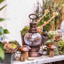 Lanterne tempête LED, lampe en métal, lampe décorative, look vintage Ø12.5cm H30cm