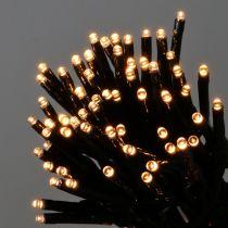 Guirlande lumineuse LED 144 noir, blanc chaud pour extérieur 1,2 m