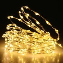Chaine lumineuse LED fil lumineux blanc chaud 189LED 3m