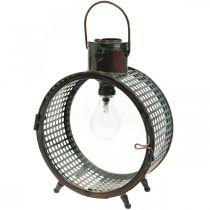 Lampe solaire lampe en métal balcon déco design industriel Ø23cm