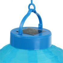 Lampion à LED sur énergie solaire 20 cm bleu