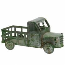 Camion pot de fleurs gris zinc, vert 42 × 17,5 × 19,5cm