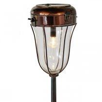 Lanterne solaire à brancher, tube LED Ø13,5cm L58cm H21cm