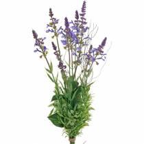 Bouquet de lavande artificiel, violet lavande décoratif, fleurs en soie