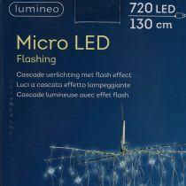 Cascade lumineuse Micro-LED blanc froid 720 H130cm