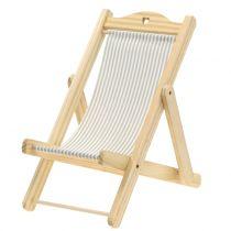 Chaise longue deco gris-blanc H24cm