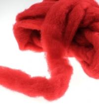 Laine mèche 10 m rouge