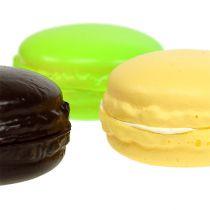 Macaron décoratif meringue diff. couleurs 5 cm 8 p.