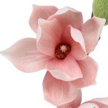 Magnolia artificiel rose clair 90 cm