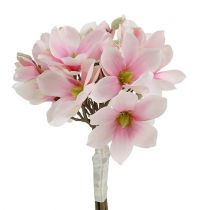 Magnolias artificiels en rose 40cm 5P