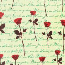 Papier manchette 25cm 100m Creme Rose