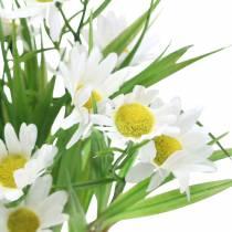 Bouquet de marguerites avec herbe décorative 37cm