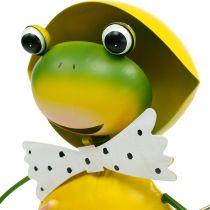 Grenouille décoration figure décoration de jardin pluie grenouille métal H35cm
