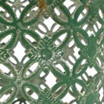 Panier en métal ovale avec anses 25 x 16,5 cm H. 21 cm vert