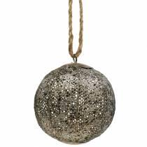 Balle en métal antique à suspendre Ø10,5cm