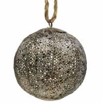 Balle en métal antique à suspendre Ø13,5cm