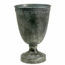 Coupe sur pied argentée antique H.26 cm Ø 17 cm