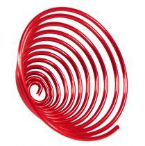 Ver en fil d'aluminium rouge 2mm 120cm