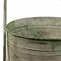 Support en métal avec bacs de plantation gris, vert H68cm