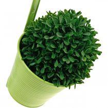 Cache-pot à suspendre, décoration de balcon, pot de fleur vert Ø13,5cm