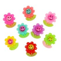 Fleurs miniatures à coller 2 cm 24 p.