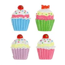 Mini cupcakes colorés 2,5 cm 60 p.