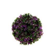 Mini boule mauve avec fleurs Ø 12 cm 1 p.