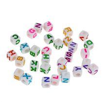 Mini dés colorés avec lettres 7 mm 90 gr