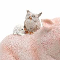 Ensemble de figurines décoratives piggy avec des amis animaux 9.3cm × 7.5 / 8.5cm 2pcs
