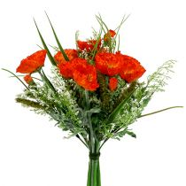 Bouquet de coquelicots orange 40 cm