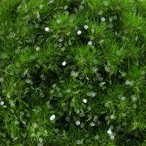 Boule de mousse verte avec paillettes Ø 9 cm