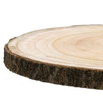 Tranche d'arbre cloche bleue naturelle Ø30-35cm 1p