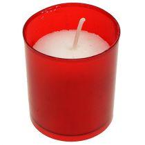 Bougie de rechange pour lanterne funéraire garniture lampes de cimetière, rouge 20 p.