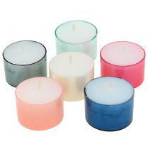 Bougies chauffe-plat Colorlights pastel assorties 40pcs
