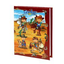 Cahier pour garçons avec cowboy A6 1 p.