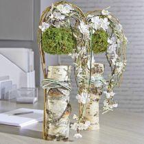 Cylindre mousse florale pâte sèche gris H5cm Ø8cm 20pcs