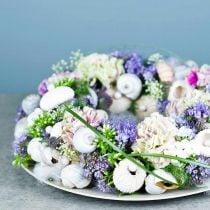 Anneau couronne mousse florale OASIS® vert H3cm Ø25cm 6pcs