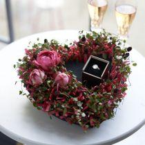 Coeur mousse florale noir 25,5cm 2pcs