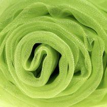 Tissu de décoration en organza vert 150cm x 300cm