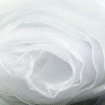 Tissu de décoration en organza blanc 150cm x 300cm
