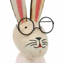 Décoration de Pâques, lapin avec des lunettes, décoration de printemps, lapin en métal, décoration de table