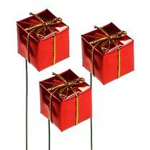 Paquet sur le fil 2,5cm rouge 60pcs