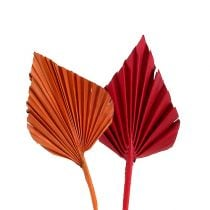 Mini feuilles de palmier rouge orange 100 p.