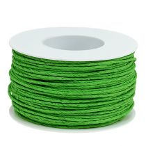 Cordelette de papier armé Ø 2 mm 100 m vert pomme