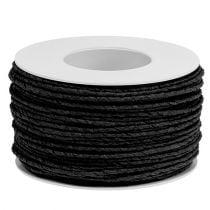 Fil de papier armé Ø 2 mm noir 100 m.