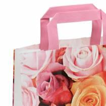 Sac en papier rose 22 x 10 x 28 cm 25 p.