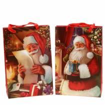 Ensemble de sacs cadeaux motif de Noël Père Noël rouge 20cm × 30cm × 8cm