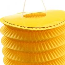 Lampion accordéon jaune Ø 10 cm H. 13 cm 8 p.